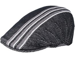 Travel Stripe 507 Black Flat Cap - Kangol