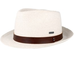Waxed Braid White Trilby - Kangol