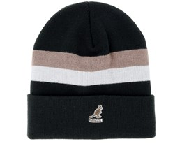Dual Stripe Black Beanie - Kangol