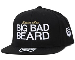 Big Bad Beard Black/White Snapback - Bearded Man