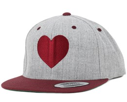 Heart Grey/Burgundy Snapback - Iconic