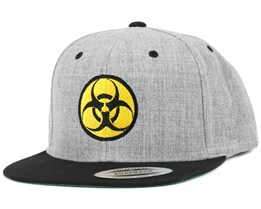 Biohazard Grey/Yellow Snapback - Iconic