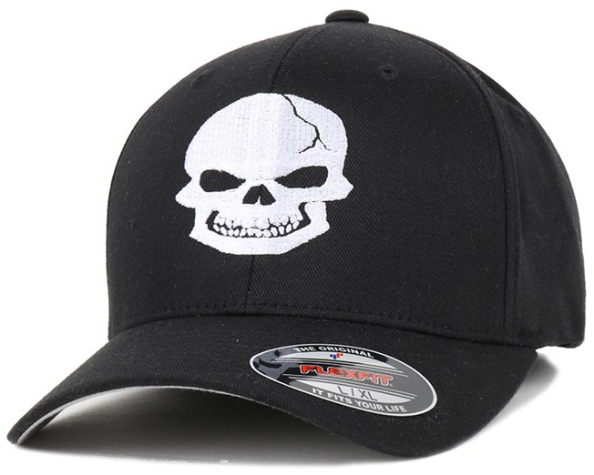 Iconic - Skull Black/White Flexfit