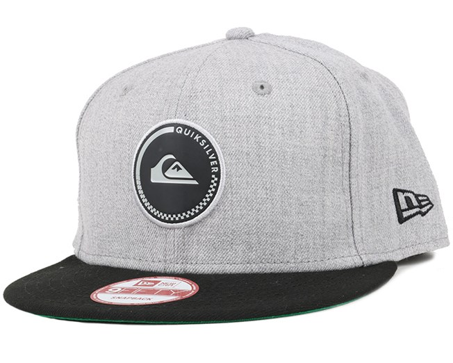 Stake Medium Grey Heather 9Fifty Snapback - Quiksilver