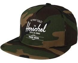 Whaler Woodland Camo Snapback - Herschel