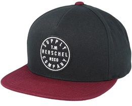 TM Black/Windsor Wine Snapback - Herschel