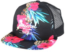 Whaler Mesh Soft Brim Windsor Black Pineapple Trucker - Herschel