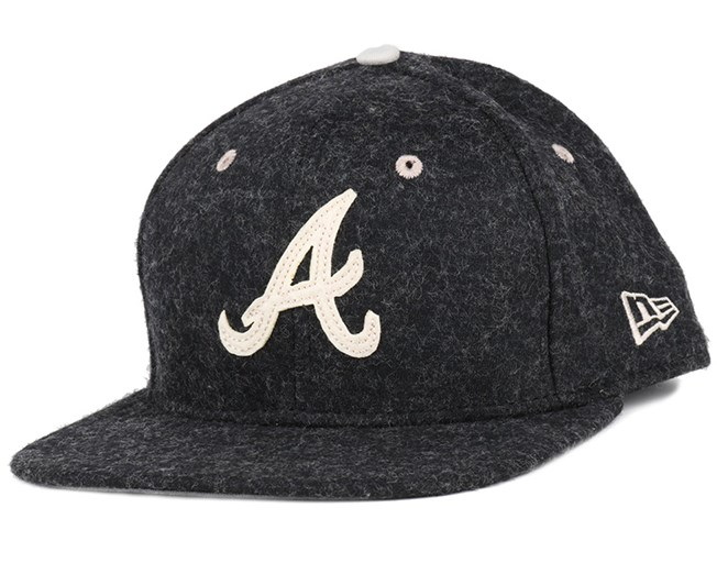 832880aa2 ... where to buy atlanta braves felt wool graphite 9fifty snapback new era  cf1af f4fa3