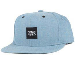 Chambray Logo Blue Snapback - Dedicated