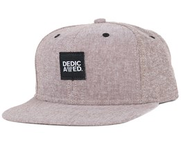 Chambray Logo Maroon Snapback - Dedicated