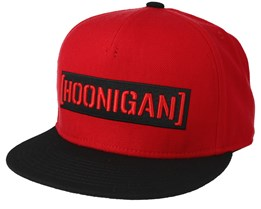 Censor Bar Red/Black Snapback - Hoonigan