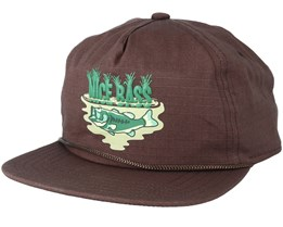 The Field Brown Strapback - Coal