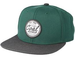 The Classic Green Snapback - Coal