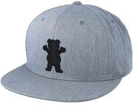 Bear Heather Grey/Black Snapback - Grizzly