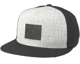 Pitch Black/Grey Fitted - Metal Mulisha