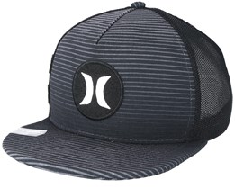 Motion Stripe Trucker Grey Snapback - Hurley