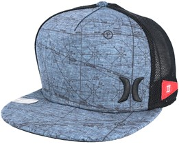 JJF Maps Trucker Navy/Black Snapback - Hurley