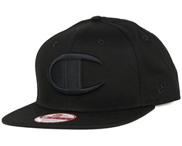 Reverse Weave Logo Black/Black 9Fifty Snapback - Champion