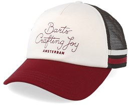 Clan Cap White/Burgundy Red Trucker - Barts