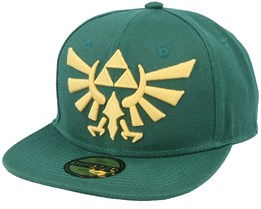 Zelda Twilight Princess Golden Triforce Logo Green Snapback - Bioworld