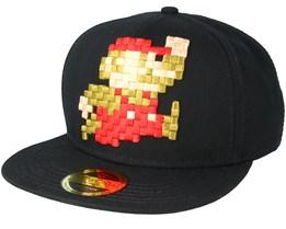Nintendo 3D Pixel Jumping Mario Black Snapback - Bioworld