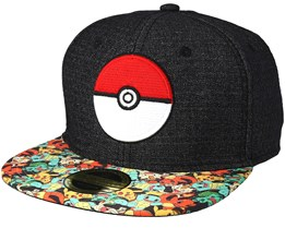 Pokémon Poké Ball Grey Snapback - Bioworld