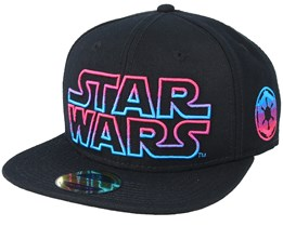 Star Wars With Coloured Logo Black Snapback - Bioworld