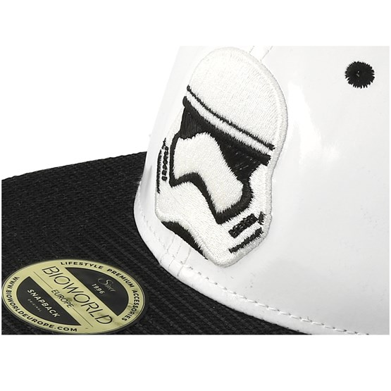 Star wars storm trooper embroidery white snapback