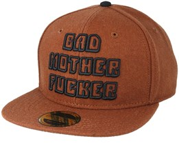 Miramax Pulp Fiction Bad Mother F Logo Brown Snapback - Bioworld