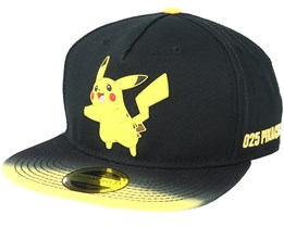 Pokémon Dip Dye With Rubber Pikachu Patch Snapback - Bioworld