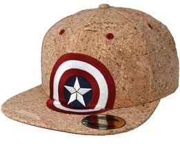 Captain America Civil War Shield Logo Cork Snapback - Bioworld
