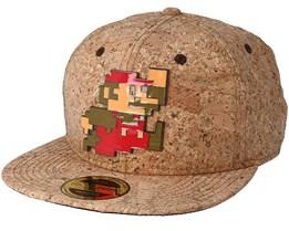 Nintendo Super Mario Metal Pixel Logo Cork Snapback - Bioworld