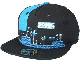 Sega Sonic Green Hill Zone Black Snapback - Bioworld