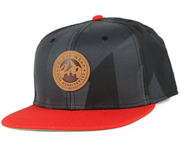 Badge Asymmetric Black Snapback - Colour Wear