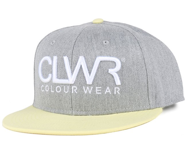 CLWR Grey Melange Snapback - Colour Wear