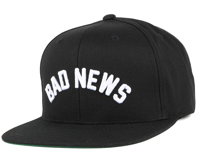 Bad News Black Snapback - Grizzly Griptape