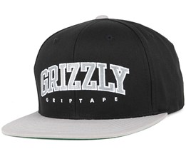 Wake Black Snapback - Grizzly Griptape