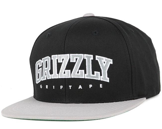 Wake Black Snapback - Grizzly Griptape