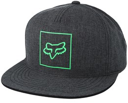 Crass Heather Black Snapback - Fox