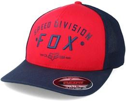 Speed Division Trucker Red Flexfit - Fox