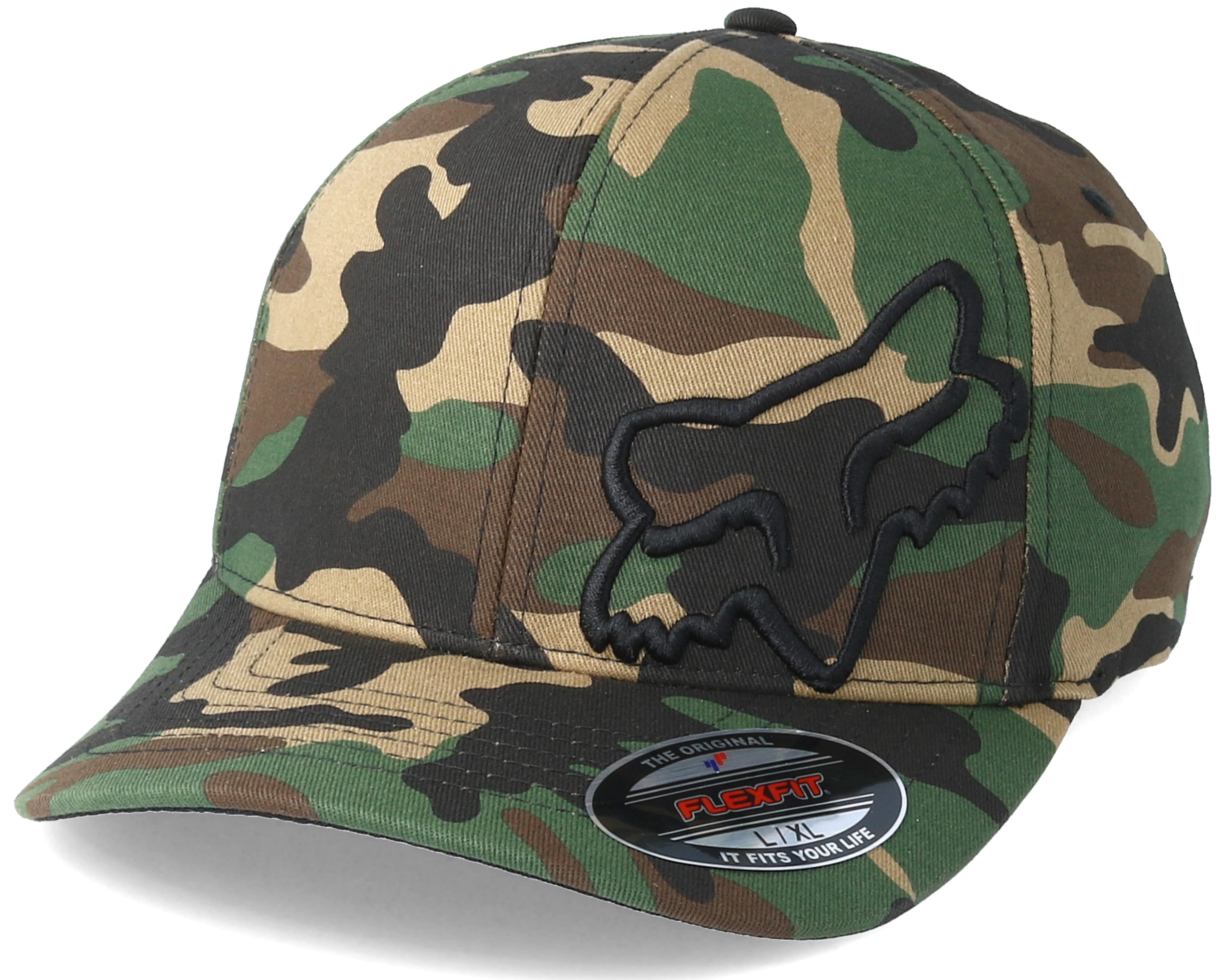 Fox Flexfit Hats >> Flex 45 Camo Flexfit - Fox caps   Hatstore.co.uk