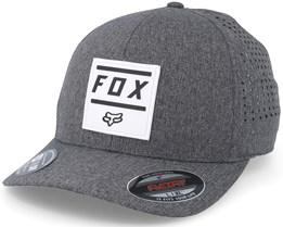 Listless Heather Graphite Flexfit - Fox