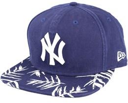 New York Yankees Sandwash Visor Print Navy Snapback- New Era