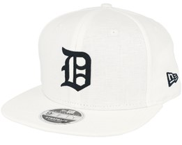 Detroit Tigers Linen Felt White Strapback - New Era