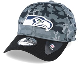 Seattle Seahawks Team Stretch Grey Camo 39Thirty - New Era