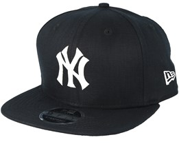 New York Yankees Linen Felt Black Strapback - New Era