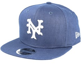 New York Mets Linen Felt Blue Strapback - New Era