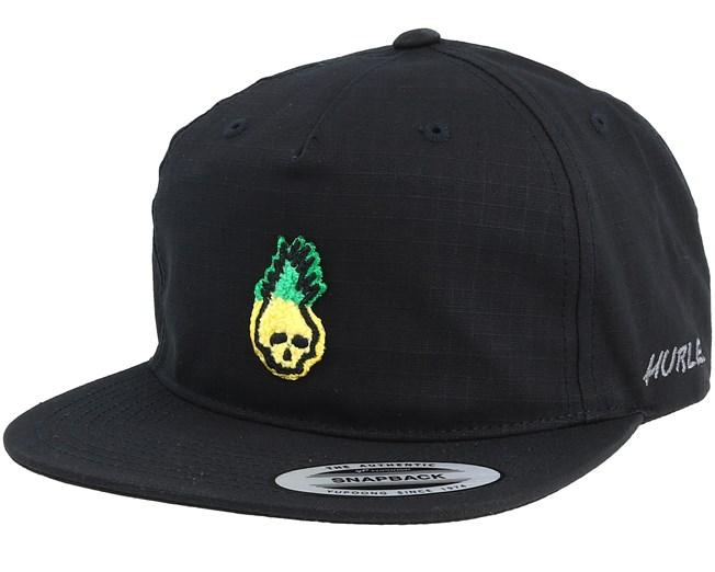 online retailer f4c12 32b73 M Pinapple Black Snapback - Hurley cap   Hatstore.nl