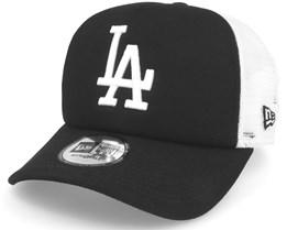 Los Angeles Dodgers Clean Trucker Black Adjustable - New Era