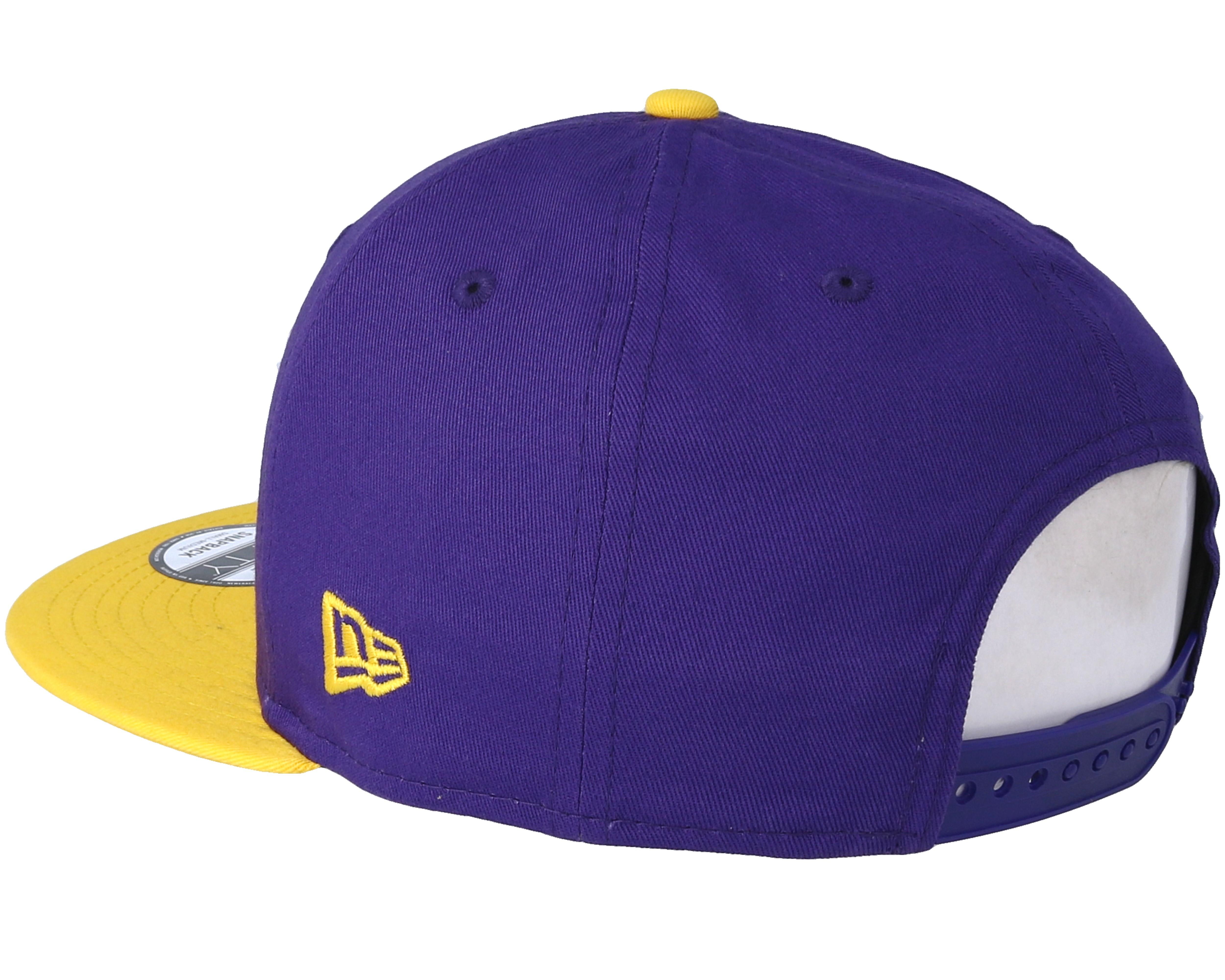 los angeles lakers 9fifty purple snapback new era cap. Black Bedroom Furniture Sets. Home Design Ideas
